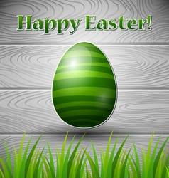 Green colored easter egg vector