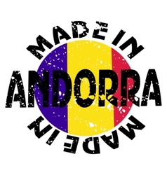 Label made in andorra vector