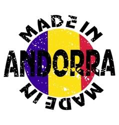 label Made in Andorra vector image