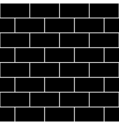Black brick wall vector
