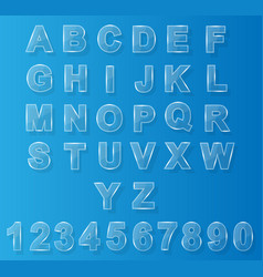 alphabet modern glass vector image
