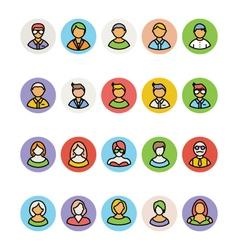 Avatar icons 1 vector