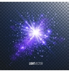Background burst with sparkles vector image vector image