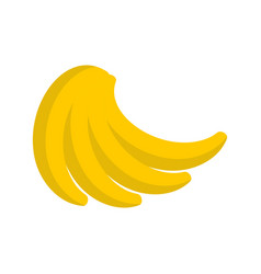bunch of bananas isolated pile of banana on white vector image vector image