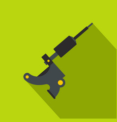 Coil tattoo machine icon flat style vector