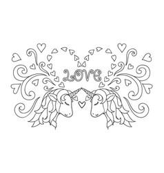 couple unicornco vector image