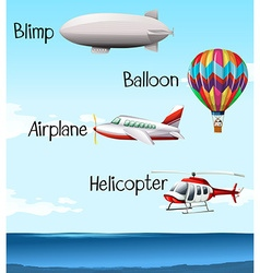 Different types of air crafts vector image