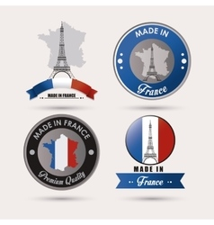 France culture design vector image vector image