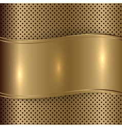 gold brushed metallic plaque background vector image