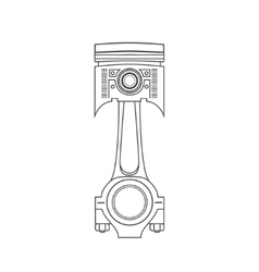 Iron car piston in a drawing style vector image