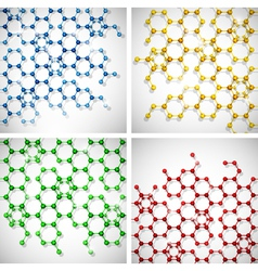 molecule background set vector image