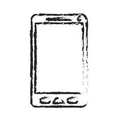 monochrome blurred silhouette of smartphone icon vector image vector image