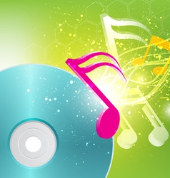 music concept background vector image vector image