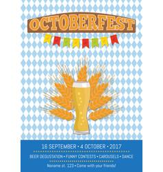 Oktoberfest on squared pattern vector