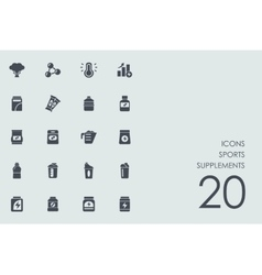 Set of sports supplements icons vector image