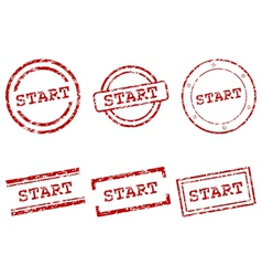 Start stamps vector image vector image
