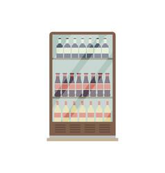 supermarket showcase refrigerator isolated icon vector image
