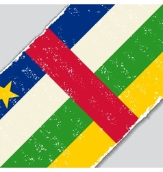 Central african republic grunge flag vector