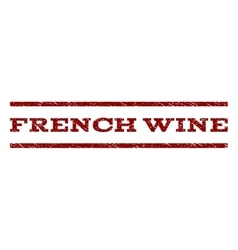 French wine watermark stamp vector