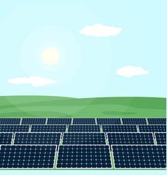 many solar panels produce energy from sun vector image