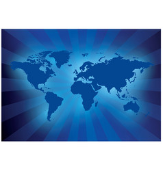Dark blue background with map of the world vector