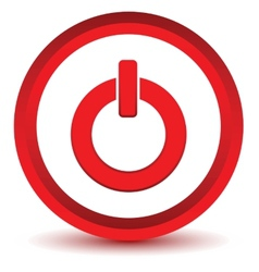 Red power icon vector
