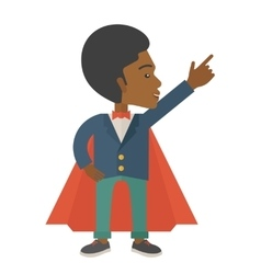 Hero african man pointing up high to the sky vector