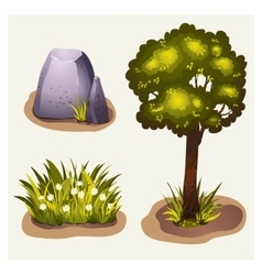 Set of game environment elements vector