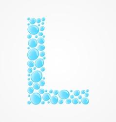 Alphabet Letter L vector image