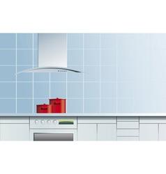 blue kitchen vector image