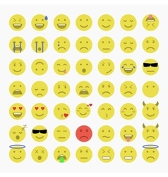 Set of emoji avatar and emoticons vector