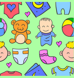 baby object style of doodles vector image vector image
