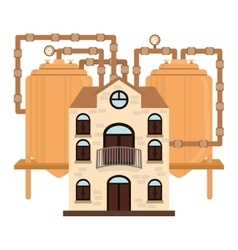Beer factory icon image design vector