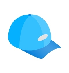 Blue baseball hat isometric 3d icon vector