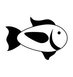 cartoon fish icon image vector image