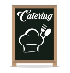 Catering service restaurant hat chef board vector