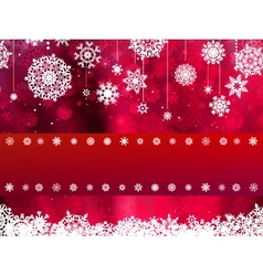 Christmas card with red snowflake EPS 8 vector image vector image