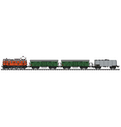 Classic electric freight train vector
