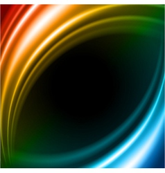 Colorful smooth light lines background vector image vector image