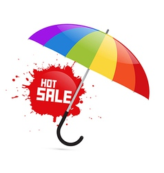 Colorful Umbrella with Hot Sale Splash vector image