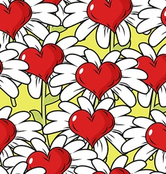 Flower of love seamless pattern Flower meadow vector image vector image