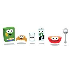 Funny Breakfast Friends vector image vector image