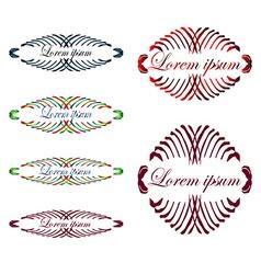 Headpieces vector image