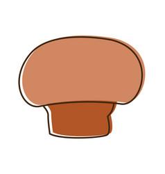 Mushroom champignon agriculture food health vector
