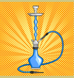 object hookah colorful drawing pop art background vector image