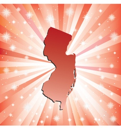 Red New Jersey vector image vector image