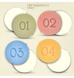 Set of bubbles stickers labels tags Numbered vector image
