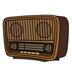 The retro lamp radio vector