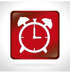 time clock watch wall isolated icon vector image vector image