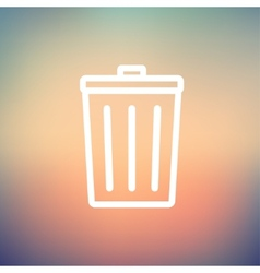 Trash Can thin line icon vector image